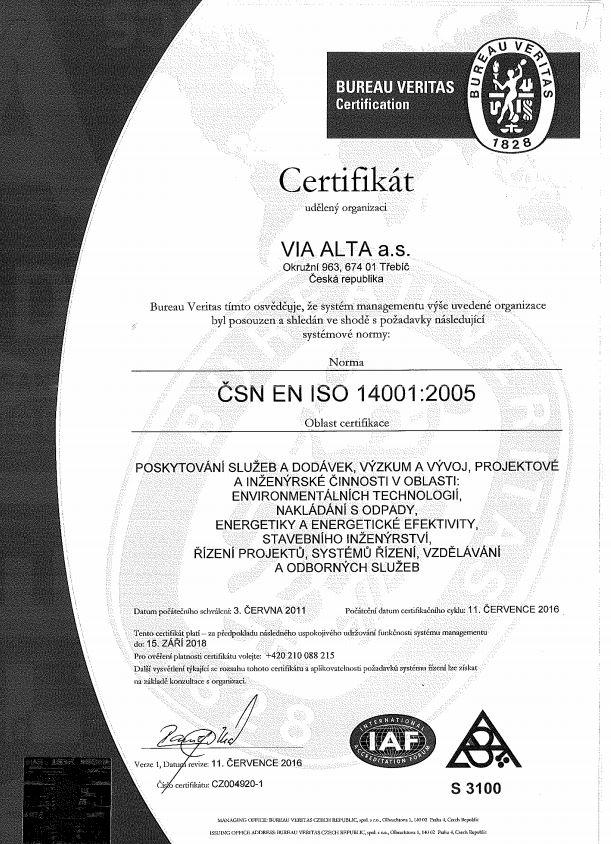 VIA ALTA ISO 14001
