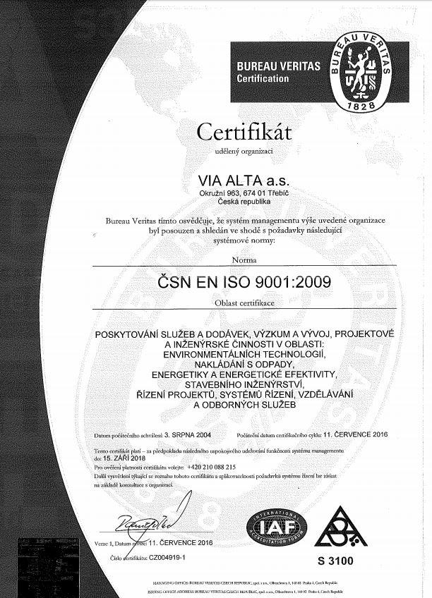 VIA ALTA ISO 9001